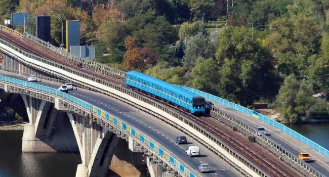 «Будет потрачено 60 млн евро»: киевский мост Метро собираются капитально отремонтировать