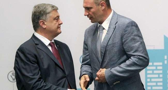 Блогер: Зеленский делает все, чтобы обиженные и рассоренные в прошлом Кличко и Порошенко объединились. И «покусали» вдвоем президента