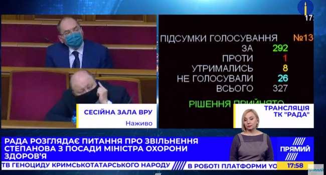 Не помог ни шантаж депутатов, ни подкуп –Степанов в отставке