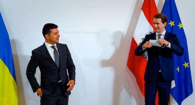 Владимир Зеленский пригласил Себастьяна Курца в Украину