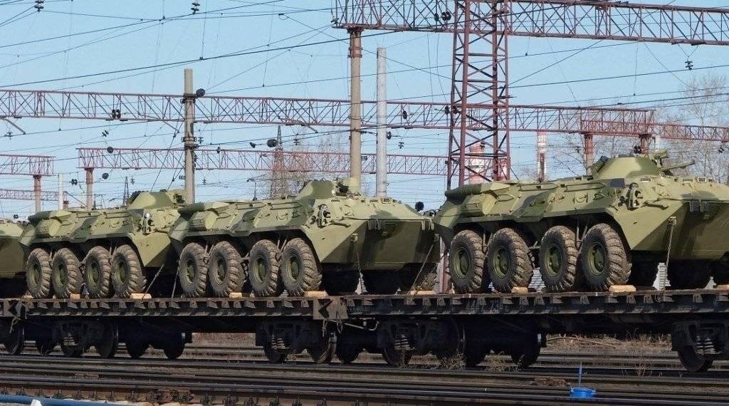 Эшелоны с российской военной техникой